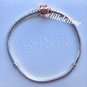 Authentic 🆕 Rose Gold Pandora bracelet